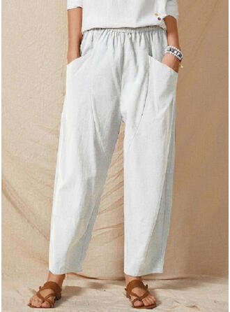 Einfarbig Übergröße Lässige Kleidung Einfarbig Lounge Pants