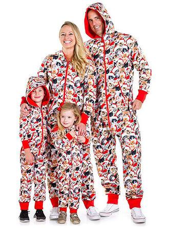 Cartoon Print Family Matching Christmas Pajamas Pajamas