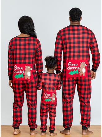 Bär Karierte Schreiben Drucken Passende Familie Christmas Pajamas