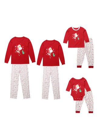 Weihnachtsmann Karikatur Passende Familie Christmas Pajamas