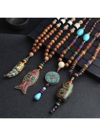 Schöne Schön Exotisch Keramik mit Harz Halsketten