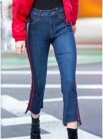 gestreift Elegant Jahrgang Denim Jeans