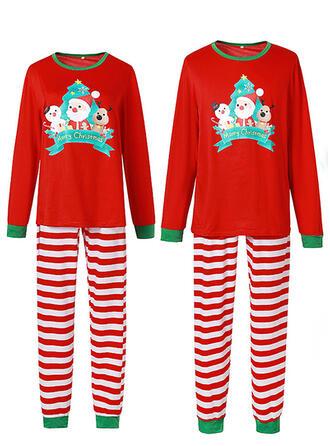 Weihnachtsmann Gestreift Karikatur Passende Familie Christmas Pajamas