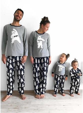 Bär Drucken Passende Familie Pyjama