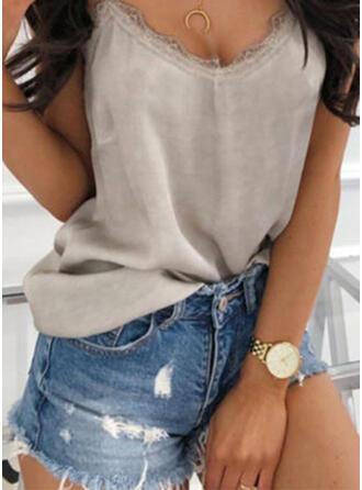 Einfarbig Lässige Kleidung Baumwollstoff Kurze Hose