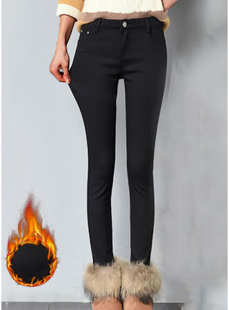 Solid Long Elegant Sexy Pants