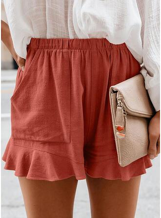 Einfarbig Lässige Kleidung Kurze Hose