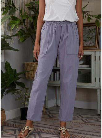 Übergröße Kordelzug Lässige Kleidung Einfarbig Lounge Pants