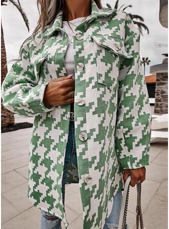 Long Sleeves Print Jackets