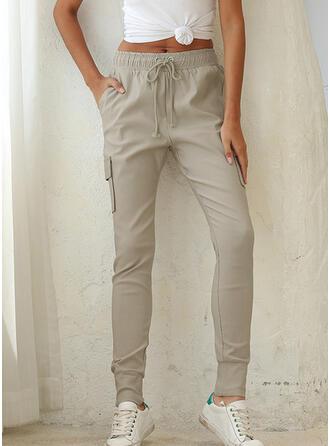 Einfarbig Lange Lässige Kleidung Lange Hosen