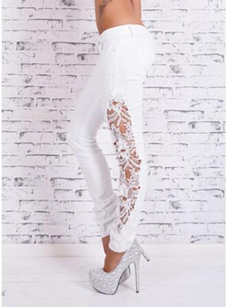 Spitze Geometrisch Übergröße Elegant Sexy Denim Jeans