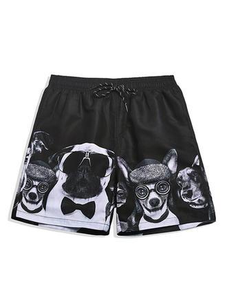 Herren Drucken Gefüttert Board Shorts