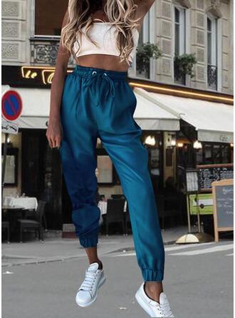 Einfarbig Kordelzug Lässige Kleidung Einfarbig Lounge Pants