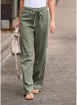Einfarbig Lange Boho Lässige Kleidung Hosen