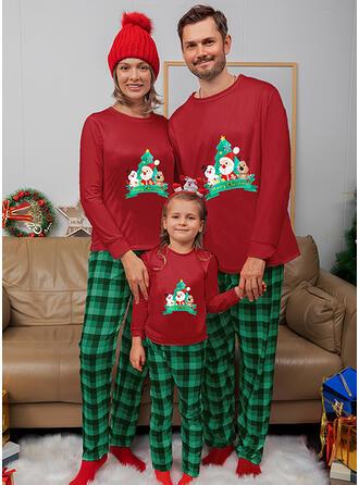 Weihnachtsmann Rentier Karierte Passende Familie Christmas Pajamas