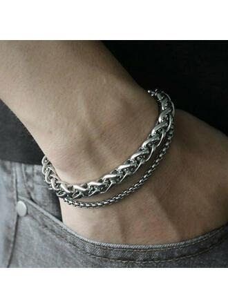 Beautiful Pretty Round Alloy Women's Ladies' Girl's Bolo Bracelets 2 PCS