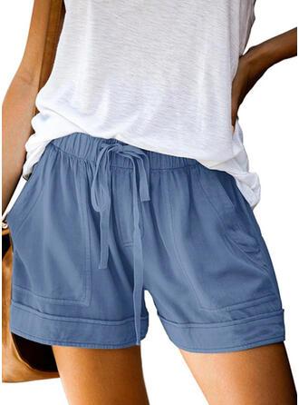 Einfarbig Lässige Kleidung Einfarbig Kurze Hose
