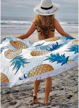 Tassel/Print round/Dust Proof/Skin-Friendly Beach Towel