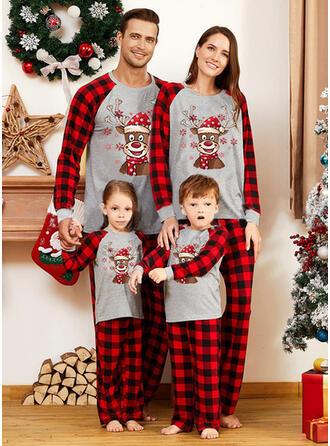 Rentier Karierte Passende Familie Christmas Pajamas