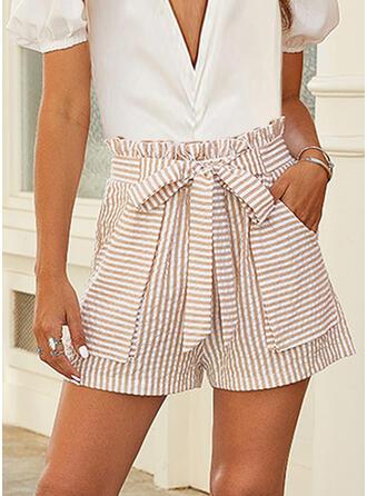 gestreift Lässige Kleidung Kurze Hose