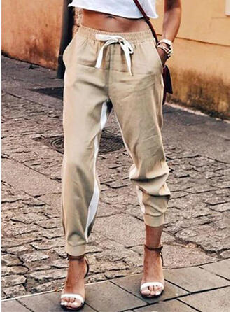 Einfarbig Lange Lässige Kleidung Einfarbig Hosen