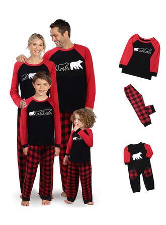 Bär Karierte Passende Familie Christmas Pajamas