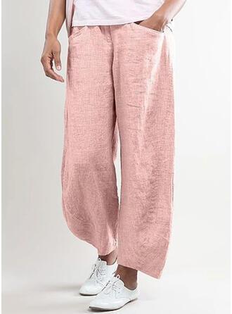 Einfarbig Lange Lässige Kleidung Lange Einfarbig Hosen