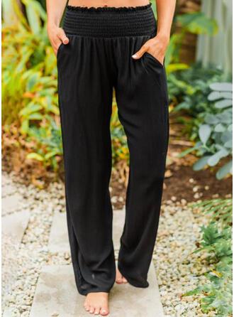 Einfarbig Taschen Lässige Kleidung Einfach Lounge Pants