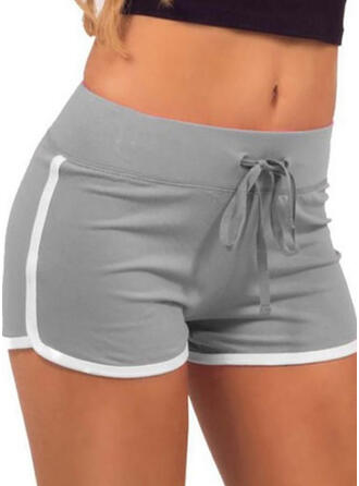 Geometrisch Kordelzug Lässige Kleidung Sexy Kurze Hose