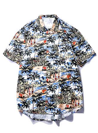 Herren Drucken hawaiisch Strand-Shirts