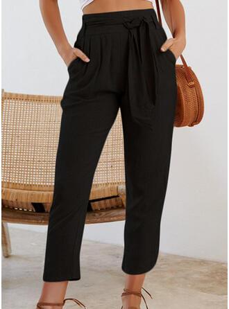 Einfarbig Capris Lässige Kleidung Einfarbig Hosen