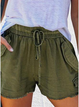 Taschen Übergröße Lässige Kleidung Einfarbig Kurze Hose