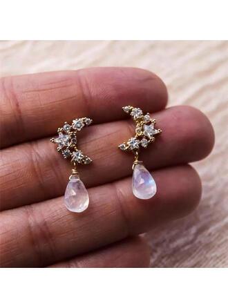 Stylish Boho Moon Alloy With Moon Women's Ladies' Girl's Earrings