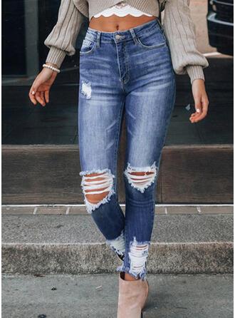 Zerrissen Sexy Jahrgang Denim Jeans