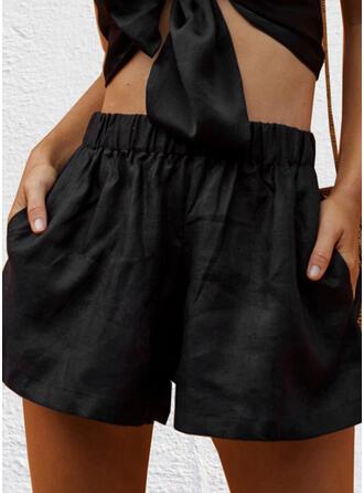 Einfarbig Übergröße Lässige Kleidung Einfach Kurze Hose