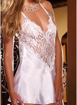 Lace Chinlon Lace Deep V Sexy Cami Set Night Dress