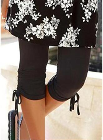 Einfarbig Kordelzug Lässige Kleidung Dünn Kurze Hose