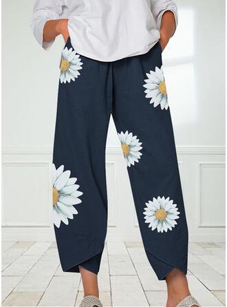 Blumen Druck Lässige Kleidung Druck Lounge Pants