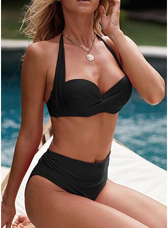 Hochdrücken Neckholder Sexy Bikinis Bademode