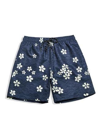 Herren Blumen Gefüttert Board Shorts