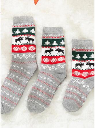 Weihnachten Rentier Komfortabel/Weihnachten/Crew Socks/Passende Familie/Unisex Socken