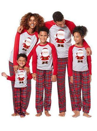 Weihnachtsmann Karierte Passende Familie Christmas Pajamas