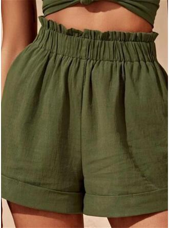 Einfarbig Sexy Einfarbig Kurze Hose