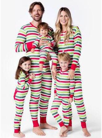 Gestreift Drucken Passende Familie Christmas Pajamas