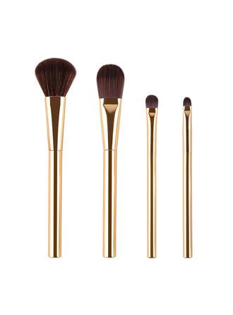 4 STÜCK Zweifarbiger Griff Einfarbig Nylon Make-up Pinsel Sets