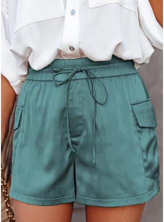 Einfarbig Taschen Elegant Einfarbig Kurze Hose