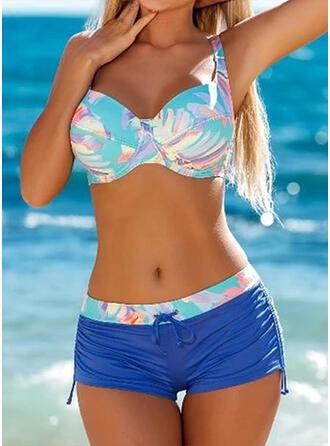 Hochtailliert Spleiß Farbe Träger Sexy Sport Bikinis Bademode