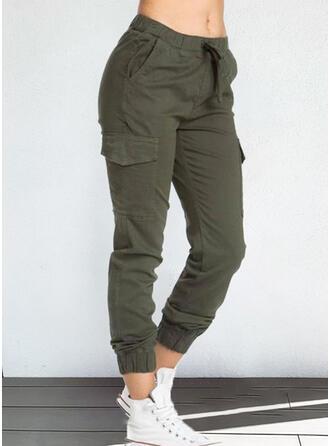 Einfarbig Taschen Lässige Kleidung Jahrgang Lounge Pants