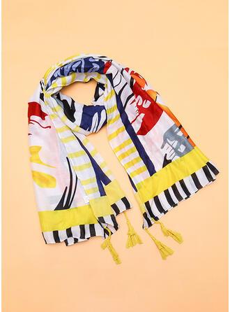 Gestreift Wiederverwendbar/Damen/Einfache Stil Schal
