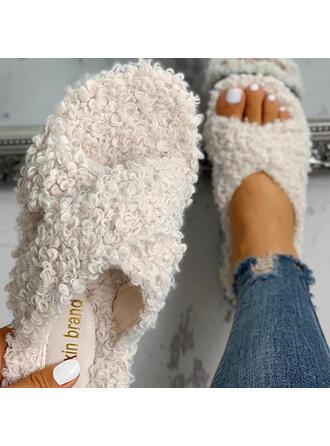 Frauen Stoff Flascher Absatz Pantoffel mit Andere Schuhe